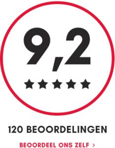 9,2 score uit 120 beoordelingen